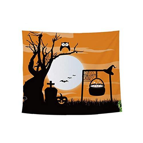 Canjerusof 1 stuk Halloween wandtapijt wandtapijt mysterious wandkleed voor slaapkamer woonkamer woonruimte decoratie 60…
