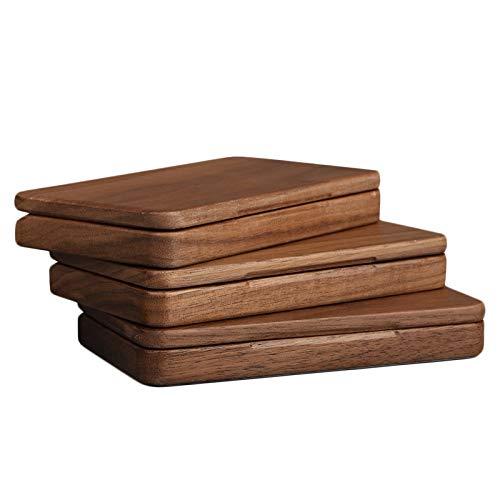 XIAOXIA Zigarettenetui aus Walnussholz aus Massivholz, Bambus und Holz, Agarwood Chip und Holzstab, einfache Geschenkbox