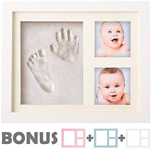 Keepsake Box Decorations for Room Wall Nursery Decor /… Bubzi Co Baby Handprint Kit /& Footprint Photo Frame for Newborn Girls and Boys Personalized Baby Gifts Baby Photo Album For Shower Registry