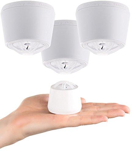 VisorTech Aufstellbare Hitzemelder: Mini-Hitzewarnmelder mit 10-Jahre-Batterie, 85 dB Alarm, 3er-Set...