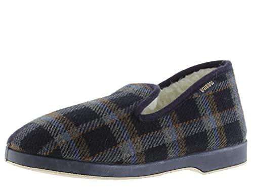 victoria Alpargata WAMBA Confortable Zapatilla DE CASA Textil Cuadros H Torcido 202001-MEN para Hombre Marino 42