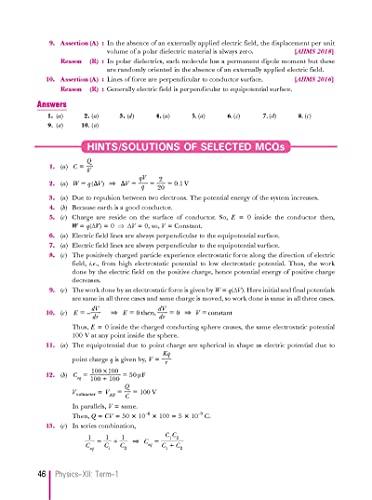 Xam Idea Physics MCQs CBSE Class 12 Book (Term I) For 2022 Exam