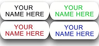 Iron on Clothing Labels - 100 - Large - 2 line - Personalized with Your Name! Your Choice of Ink Color. Black - Blue - Green