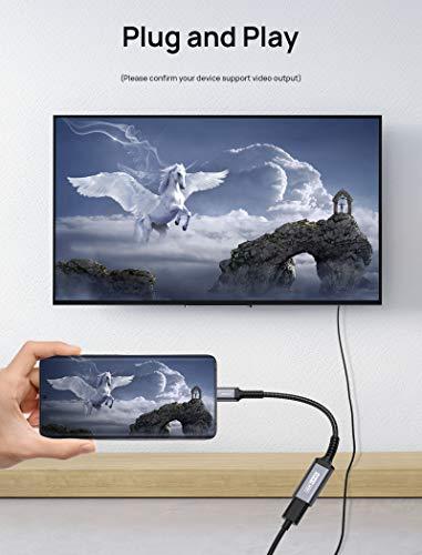 JSAUX USB C HDMI Adapter 4K, USB Type-C Thunderbolt 3 auf HDMI Adapter for MacBook Pro 2018 2017, MacBook Air, iPad Pro, iPad Air, Dell XPS 15, Samsung Galaxy Note 20/S20/S10/S9, Huawei P30/P20 Grau