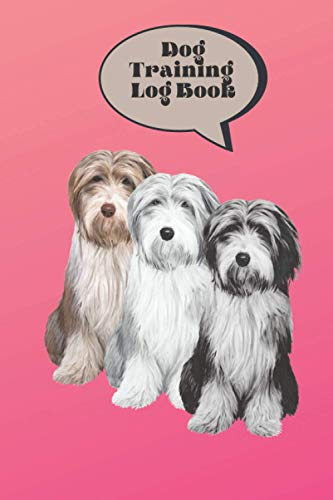 Dog Training Log Book | Bearded Collie Dog Design | Dog Trainers Template | Dog Training and Activity Monitor | 6* 9 inches | 120 Pages