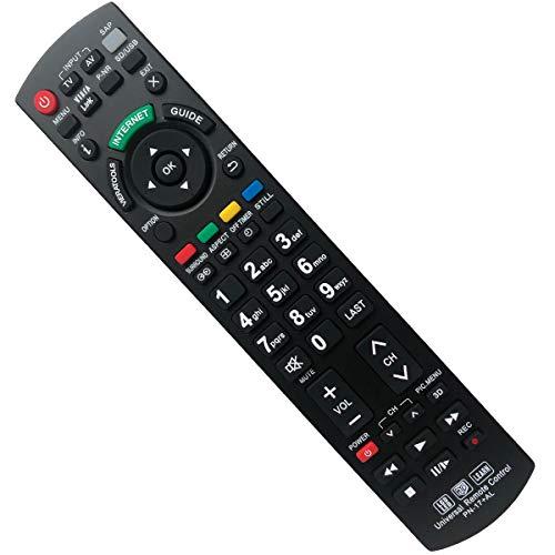 EAESE Telecomando Universal per Panasonic PN-17 TV - Compatible Remote Control TV/VIERA Link/LEARN/ 3D/ LCD/LED Panasonic Televisions
