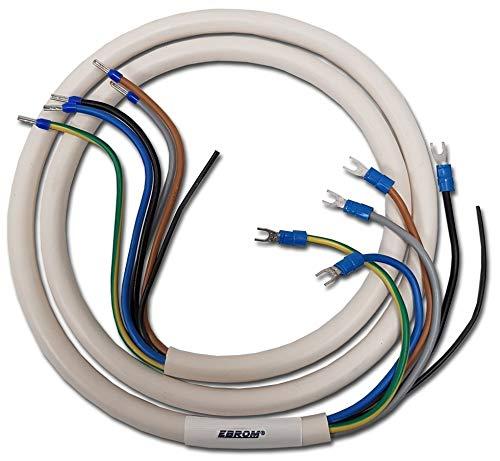 ScanPart Zuleitung für Elektroherd Herd 2,5m 5x2,5mm° offene Enden Weiß