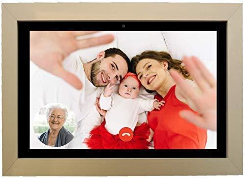 DayClocks Seniorenuhr 10-Duo in Schwarz mit Rahmen aus Titan inkl. Videoanrufe, (Sprach-)Nachrichten und Foto-Funktion Digitale Uhr, Kalender und Tablet für Senioren und Demenzkranke mit Erinnerungsfunktion