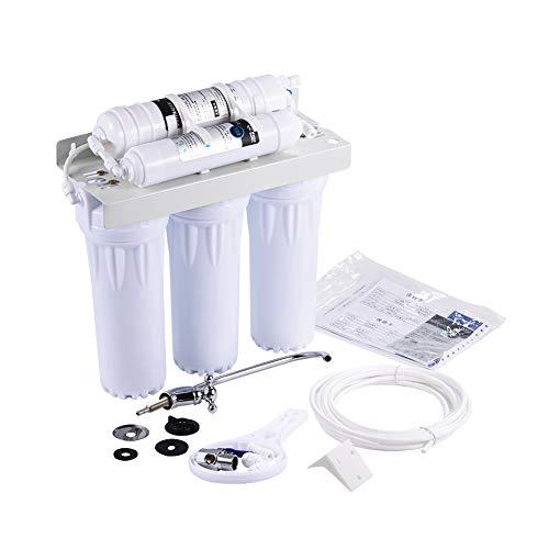 Sistema de filtración de agua, sistema de filtro de agua potable de 6 etapas, purificador de remineralización alcalina el hogar/oficina