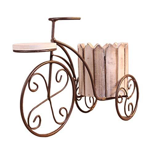 LOVIVER Vaso da Fiori da Tavolo in Ferro per Biciclette Vaso da Fiori Porta Piante Artigianato Decorazione Balcone Ornamento, Adatto per Entrambi - Bianco