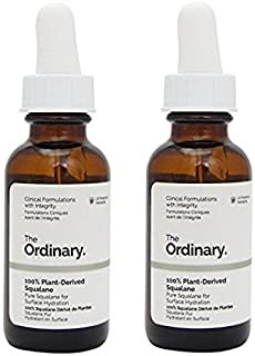 The Ordinary 100% Plant-derived Squalane 30ml (Pack of 2)