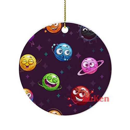 happygoluck1y Patrón sin costuras con planetas divertidos en el espacio adornos de...