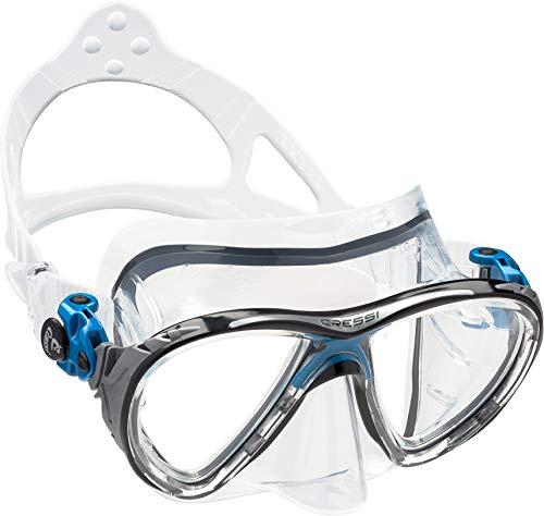 cressi Tauchmasken Big Eyes Evolution HD Mirrored Lens, Klar/Blau Schwarz, Eine Größe