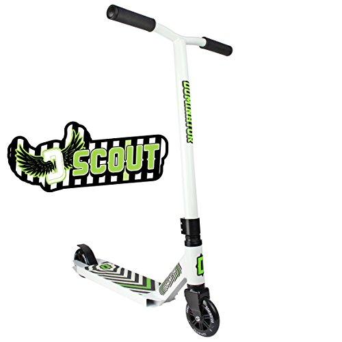 Dominator Scout Pro Stunt-Scooter, weiß/weiß
