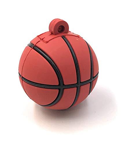 Onlineworld2013 Pelota de Baloncesto Deporte Redondo Divertido USB Stick 64 GB USB 2.0
