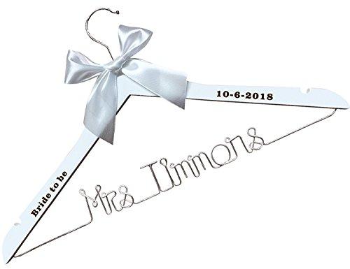 VVFOR Custom Bridal Hanger-Wededing,Bridal Hanger one line, Brides Hanger Bride Name Hanger Wedding Hanger Personalized Bridal Gift-Custom it