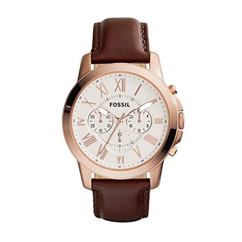 Reloj Fossil Grant para Hombres 44mm, pulsera de Piel