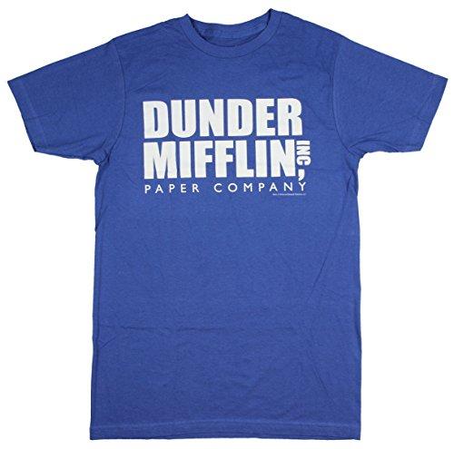 The Office Dunder Mifflin INC Paper Company Logo Black T-shirt Tee, Small
