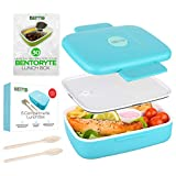 BENTO RYTE Bento Box for Kids | Lunch Bento Boxes for Adults| Food Prep Containers for Your Toddler | Insulated Meal 5 Compartment Lunchbox with a Sauce Container