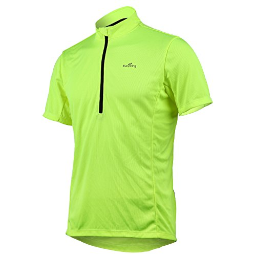 Short Sleeve Cycling Jersey Men's Quick Dry Basic Shirts Green US Size S