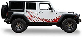 Bubbles Designs Lower Mud Splash Decal Sticker Vinyl Compatible with Jeep Wrangler