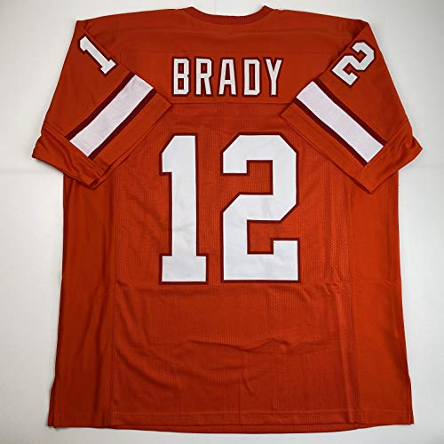 Unsigned Tom Brady Tampa Bay Orange Retro Custom Stitched Football Jersey Size Men's XL New No Brands/Logos