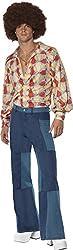 """Ofertas Tienda de maquillaje: Incluye Disfraz retro de los 70, camisa y pantalones patchwork de denim Tórax 38""""-40"""" / cintura 32""""-34"""" / entrepiernas 3275"""" Nuestro equipo interno de seguridad asegura que todos nuestros productos son manufaturados y rigurosamente testados para cump..."""