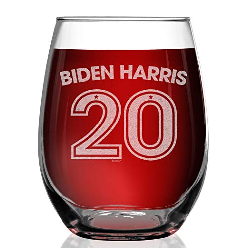 Shop4Ever Biden Harris 20 Engraved Stemless Wine Glass We Did It Glass