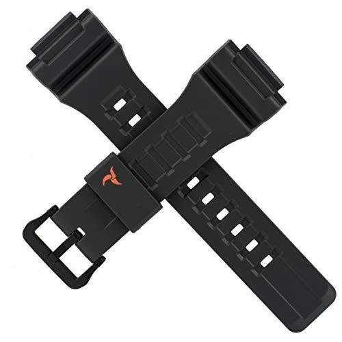 Casio 10462712 - Correa para reloj STL-S100H STL S100H, color negro y rojo