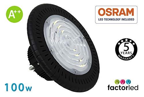 FactorLED industriële klok UFO 100W chip Brigdelux 3030-3D 150lm / w Dimable Triac industriële verlichting ideaal voor industriële schepen IP65