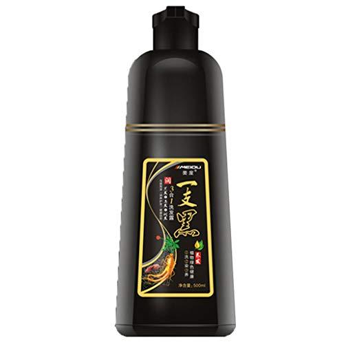 Weißes Haar in Schwarz Schnelles Shampoo für schwarzes Haar Nur 5 Minuten schleppendes weißes Haar,Vitalität und unglaublichen Glanz natürlicher pflanzlicher Inhaltsstoffe zurück