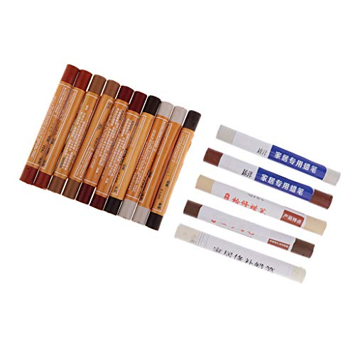 15pcs Möbelkorrekturstift Korrektur-Stift Ausbesserungsstifte für Möbel aus Holz & Furnier
