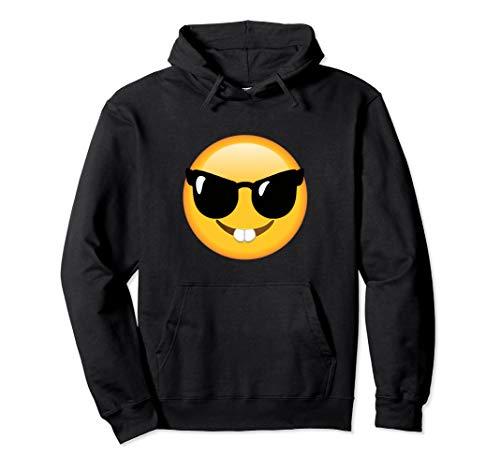 Emoticon, lustig, Gesicht, Nerd-Brille, glückliches Gesicht Pullover Hoodie