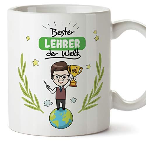Mugffins Lehrer Tasse/Becher/Mug Geschenk Schöne and lustige kaffetasse - Bester Lehrer der Welt - Keramik 350 ml