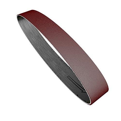 KKmoon 10 PCS Schleifbänder Set,60-1000# Polierband Schleifen und Polieren Ersatz für Winkelschleifer 25 * 330mm