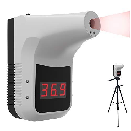 Fieberthermometer Infrarot-Thermometer Wand Montier, Kontaktloses Fieberthermometer zur Eingangskontrolle, 0,5S Sofortige Induktion Intelligenter Hochtemperaturalarm (Weiß)