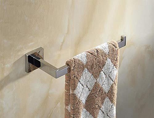 Stainless Steel Silver Polished Bathroom Hardware Pendant Glossy Chrome Steel Towel Rack 10.6 * 2.9cm 1