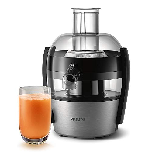 Philips Viva Collection HR1836/01 - Exprimidor (Negro, 1 L, 5,5 cm, 0,8 m, 500 ml, PP)