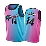 Tyler Herro City Edition Jersey Miami Heat # 14, chaleco de baloncesto sin mangas y traje de fiesta Hip Hop (S-XXXXL)
