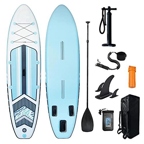 XRDSHY Tabla de Padel Surf Hinchable Estable y Seguro Paddle Surf Antideslizante y fácil de Transportar Tabla Paddle Surf con Accesorios Completos,Blue