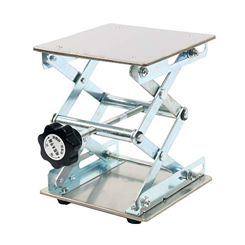 "YaeTek 6 x 6"" Lab Scissor Jack - Heavy Duty Laboratory Scissor Jack - Stainless Steel Platform Lab Stand Table Scissor Lift Laboratory Jack (6 Inch by 6 Inch)"