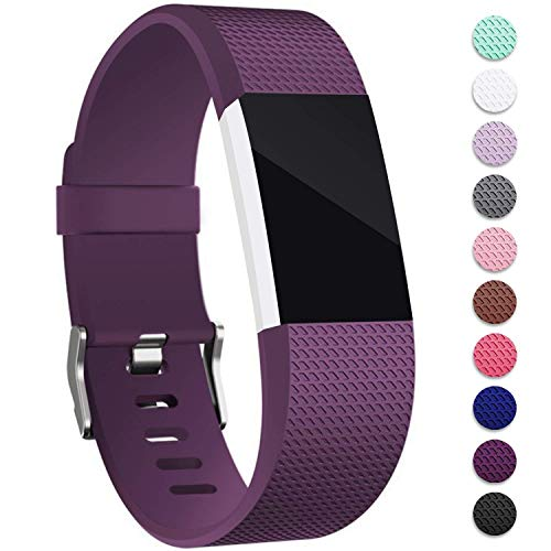 Mornex Für Fitbit Charge 2 Armband, Original Ersatzarmband Sport Fitness Watch Band Small, Lila