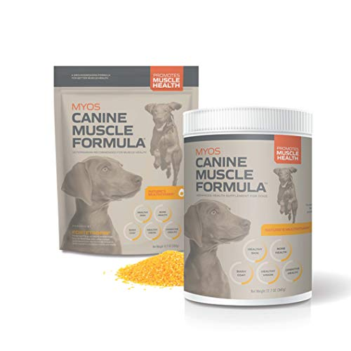 MYOS Canine Muscle Formula - Clinically Proven All-Natural Muscle Building Supplement - Reduce Muscle Loss in Aging Dogs and Improve Recovery from Injury or Surgery, 12.7 Ounce
