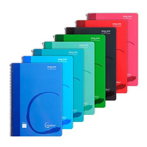 MP - Cuadernos Rayas Horizontales, Tapa Blanda, Unido en Espiral, 80 Hojas, Paquete de 8 Libretas 310x215 mm