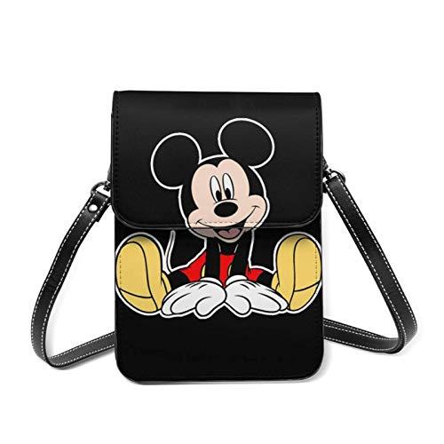 XCNGG Monedero pequeño para teléfono celular Cartoon M-ickey Mo-use Lightweight Leather Phone Purse, Women Multicolor Handbag Small Crossbody Bag Mini Cell Phone Pouch Shoulder Bag.with Adjustable Str