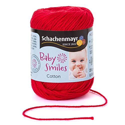 Schachenmayr Baby Smiles Cotton 9807350-01030 rot Handstrickgarn, Häkelgarn, Babygarn