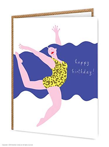 Sassy Blauw Haar 'Luipaard Print' Verjaardagskaart