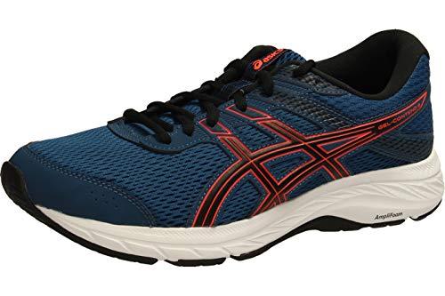 ASICS Mens Gel-Contend 6 Running Shoe, Mako Blue/Sunrise Red,43.5 EU