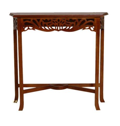 Whitestar Solid Mahogany Wood - Console Latice Table - Chestnut
