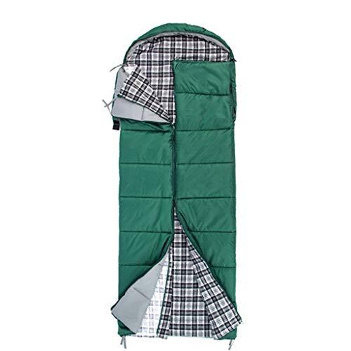 CATRP-Sac de couchage en Coton Lavable Saison 4 Adulte en Plein air Voyage Automne et Hiver épaissir Camping Vert (Size : 2.5kg)